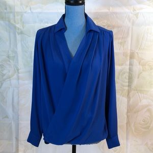 Bellatrix royal blue wrap blouse